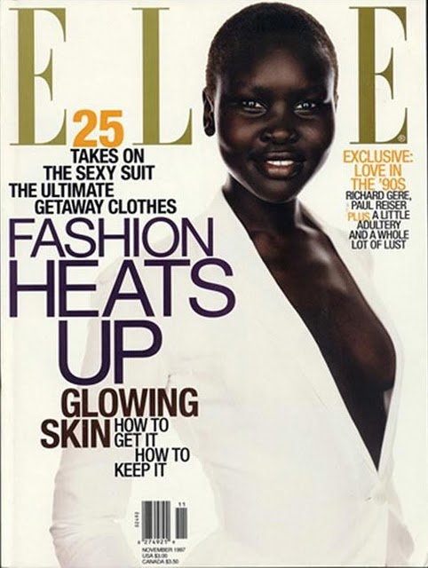 Alek Wek Elle Magazine Cover 1997