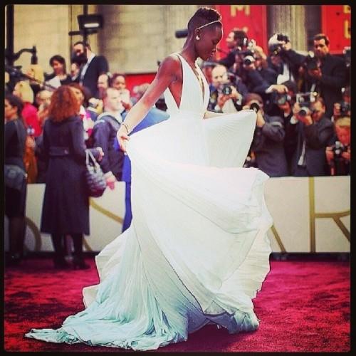 Lupita Nyong'o in Nairobi Blue